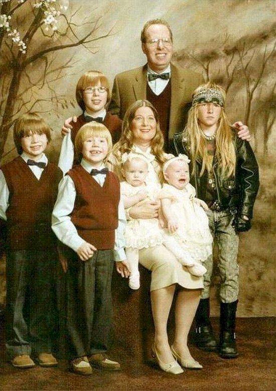 metal kid family photo