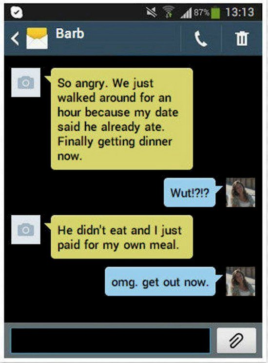 own meal date text