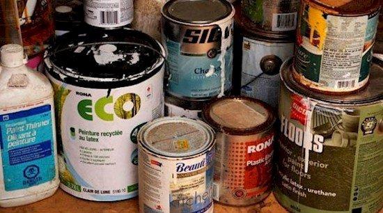 paint cans hiding spot