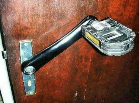 pedal door handle