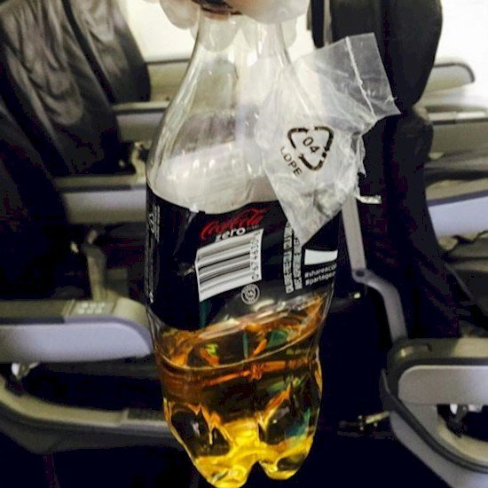 pee bottle plane