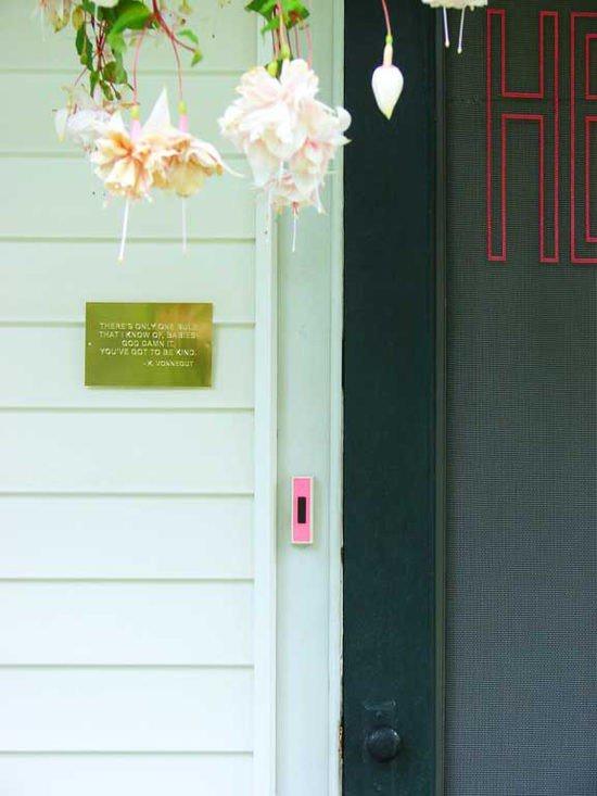 pink doorbell