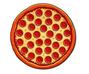 pizza beach blanket pepperoni