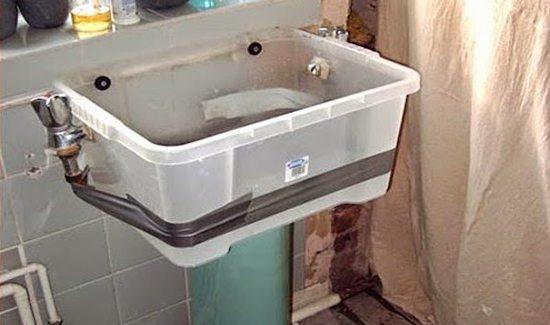 plastic sink