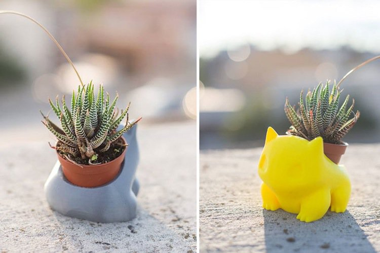 These 3d Printed Planters Are Perfect For Any Pokemon Fan