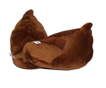 poop emoji slippers brown