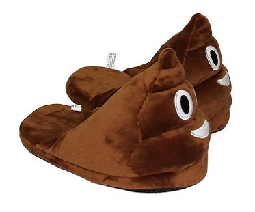 poop emoji slippers side