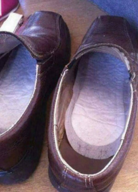 sanitary pads in shoes