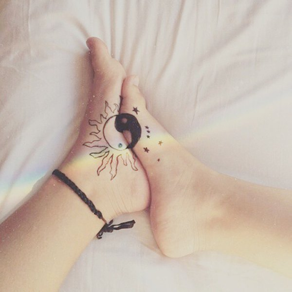 Long Distance Friendship Sun Moon Matching Bestfriend: 13 Awesome Tattoo Ideas For Sisters