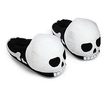 skull slippers plush