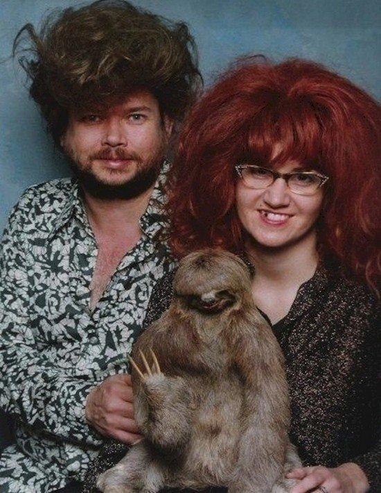 sloth baby couple