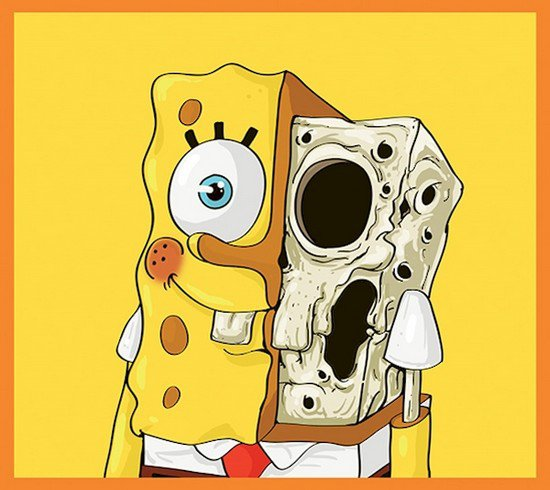 spongebob skeleton