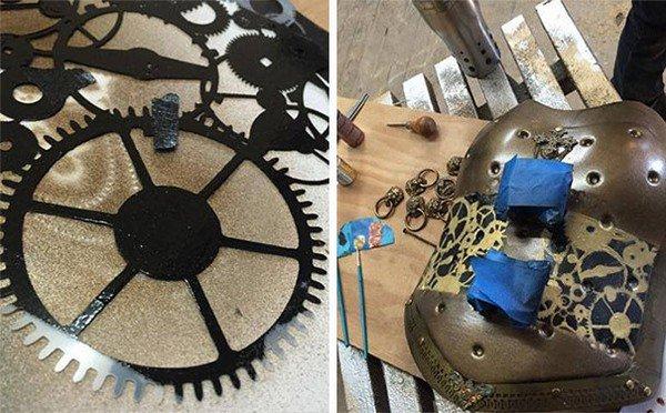 steampunk brace parts