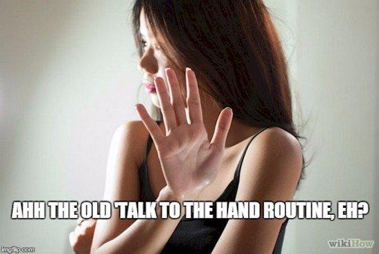 talk to hand