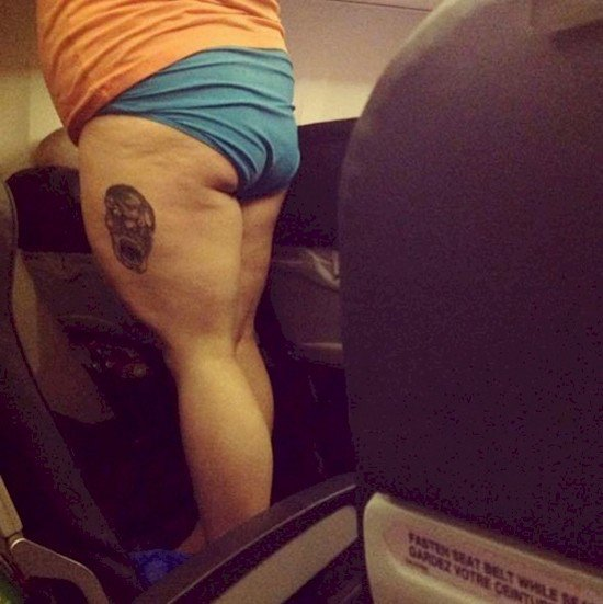 tattoo butt plane