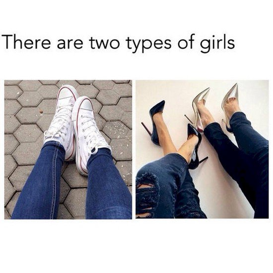 two types girls shoes