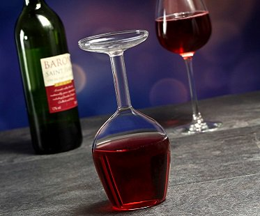 upside down wine glass drink