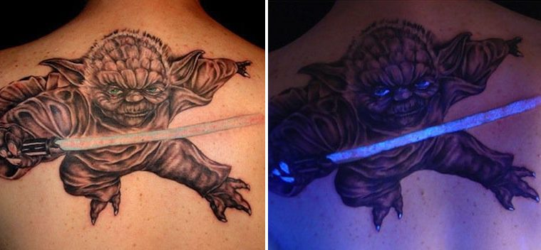 uv tattoos yoda