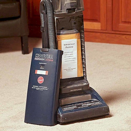vacuum hiding spot