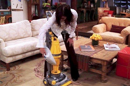 vacuum woman