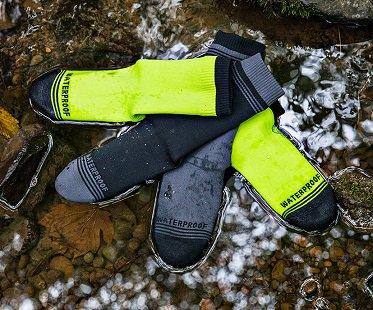 waterproof socks green