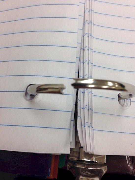 wonky ringbinder