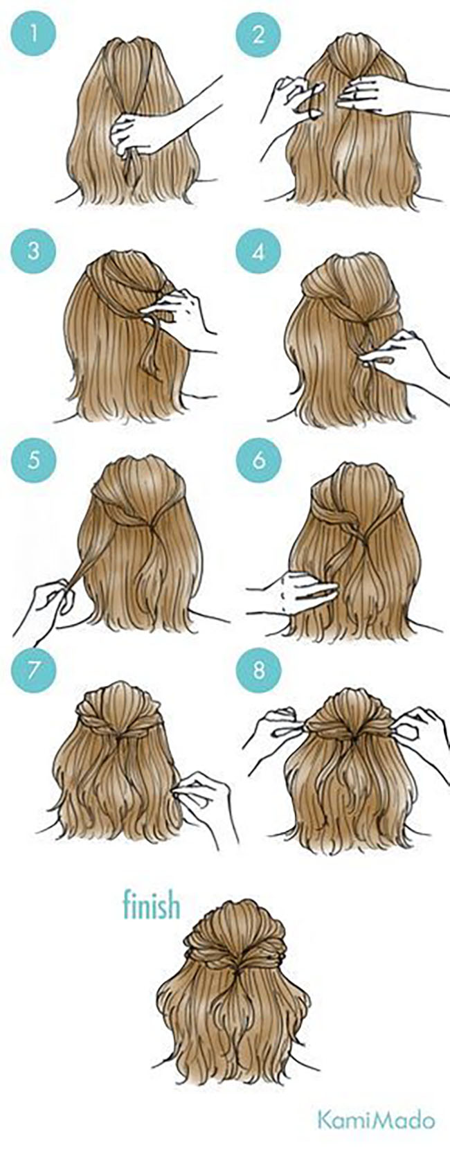 65 Easy And Cute Hairstyles That Can Be Done In Just A Few Minutes