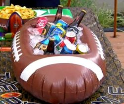 American Football Inflatable Cooler