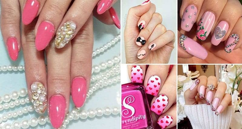 14 beautiful nail designs for the ladies who love pink prinsesfo Image collections