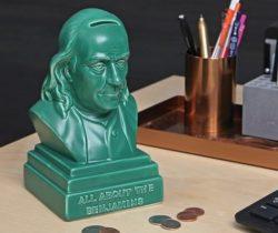 Benjamin Franklin Money Bank