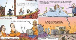 Cartoons Struggles Modern-Day Living