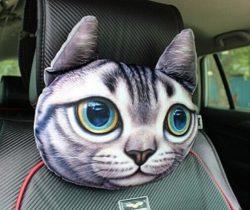 Cat Car Headrest Pillow