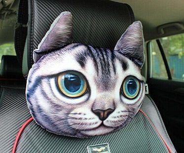 Cat Car Headrest Pillow