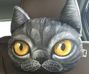 Cat Car Headrest Pillow head
