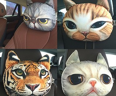 Cat Car Headrest Pillow styles