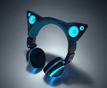 Cat Ear Headphones blue