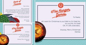 Christmas Cards Exchanged Fictional Characters