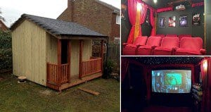 DIY Home Theater Tool Shed