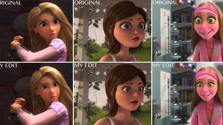 Disney Characters Reimagined Baby Faces