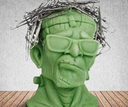 Frankenstein Paperclip Holder