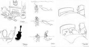 Funny Illustrations Twists Tango