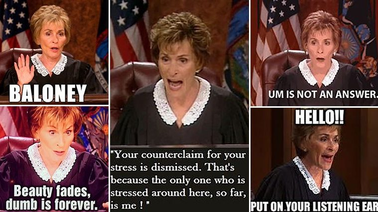 Hilarious Judge Judy Images