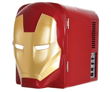 Iron Man mini fridge red gold