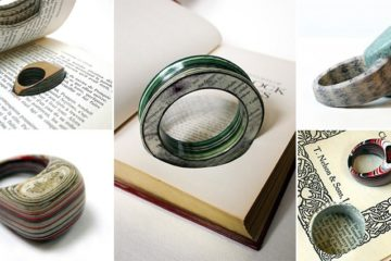 Jewelry Pieces Discarded Books