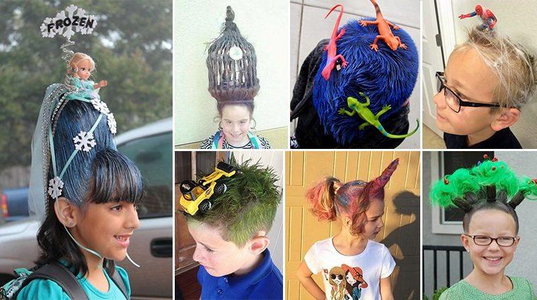 Kid Won Crazy Hair Day