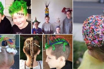 Kids Won Crazy Hair Day