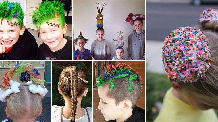 Kids Won Crazy Hair Day