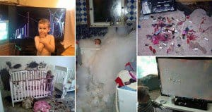 Messy And Destructive Kids