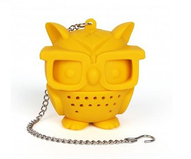 Nerd Owl Tea Infuser yellow