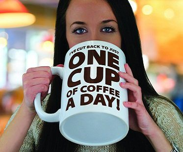 One Cup of Coffee Large Mug